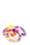 Gomas del telar colorido aisladas sobre el fondo blanco Fotos de archivo libres de regalías