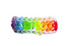 Gomas del telar del arco iris con la pulsera colorida de la moda Fotos de archivo libres de regalías