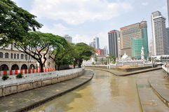 The Gombak and Klang Rivers Flowing through Kuala Lumpur Royalty Free Stock Photos