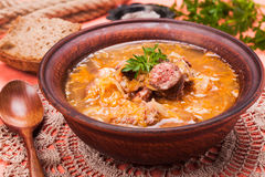 Gombaleves - Chrismtas hungarian soup Royalty Free Stock Photography