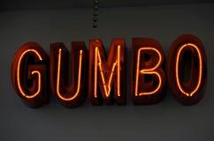 Gombo al neon Immagini Stock