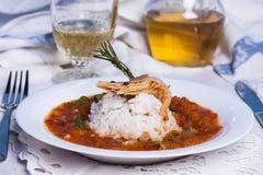 Gombo de soupe de la Louisiane avec la crevette Images stock