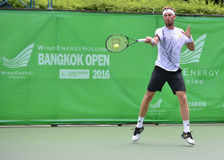 Gombos Norbert, tennisspelare från Slovakien Gemensam vind Energery Bangkok öppnar 2016 Atp-utmanare, Bangkok Thailand på 3 septe Arkivfoto
