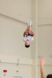 Gomel, Λευκορωσία - 12 Νοεμβρίου 2016: Αθλητικοί ανταγωνισμοί στο acrobatics μεταξύ των αγοριών και των κοριτσιών γεννημένων το 2 Στοκ Εικόνα
