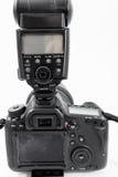 GOMEL, БЕЛАРУСЬ - 12-ое мая 2017: Камера канона 6d с объективом на белой предпосылке Канон manufactur камеры ` s самое большое SL Стоковые Фотографии RF