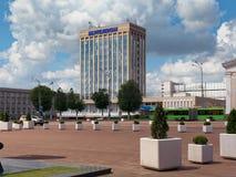 GOMEL, БЕЛАРУСЬ - 15-ОЕ МАЯ 2019: Квадрат Ленин Театр и почтовое отделение стоковые фотографии rf