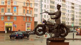9/11/2017 Gomel Новая скульптура Стоковое фото RF