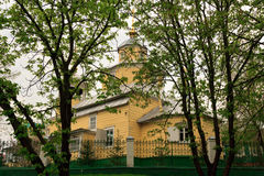 Gomel, Belarus - 1 MAY 2013: A wooden building Old Believers Church.  Royalty Free Stock Photo