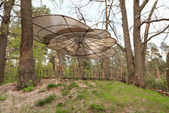 Gomel, Belarus - 30 April, 2017: a beautiful architectural solution. Arbor without walls on the basis of rest RANCO. Gomel, Belarus - 30 April, 2017: a Royalty Free Stock Photography