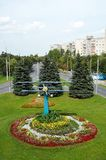 Gomel, Belarus, AUGUST 12, 2009: The Monument to pilots of small aircraft. Old Airfield. Stock Photography