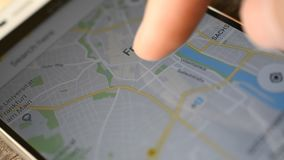 Google Maps application stock video. Image of 1080p, direction ...