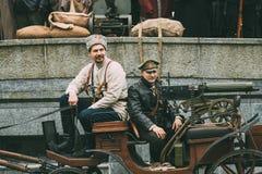 Gomel, Belarus Célébration pour le siècle d'octobre Revolutio Photos stock