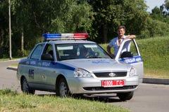 Gomel, Belarus - 4 juillet 2013 : Le trafic sur le trafic de commande numérique contrevenant publié de fines Photos stock