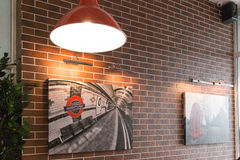 Gomel, Belarus - 31 July, 2015: Fast-food chain Burger Master, Railway Station Square 1, Royalty Free Stock Images