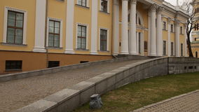 GOMEL, BELARUS - July 29, 2016: Panoramic view in the Park Ensemble of Gomel Palace of the Rumyantsevs and Paskevichs. stock video