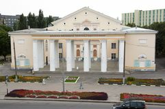 Gomel, Belarus, le 12 août 2009 : La Chambre de la culture sur la rue Efremova Image stock