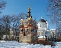 Gomel, Belarus, le 29 décembre 2006 : Tour de palais d'ensemble de Rumyantsev-Paskevich, de palais et de parc, paysage d'hiver Photo libre de droits