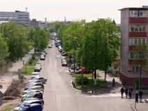 GOMEL, BELARUS - 2 MAI 2019 : le trafic sur la rue de Gagarina photos stock