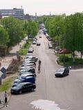 GOMEL, BELARUS - 2 MAI 2019 : le trafic sur la rue de Gagarina photo stock