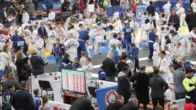 GOMEL, BELARUS - 23 mars 2019 : II tournoi international de Pride Cup dans le judo banque de vidéos