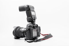 GOMEL, BELARUS - May 12, 2017: Canon 6d camera with lens on a white background. Canon is the world`s largest SLR camera manufactur. Er Royalty Free Stock Photo