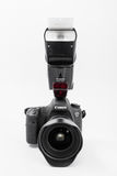 GOMEL, BELARUS - May 12, 2017: Canon 6d camera with lens on a white background. Canon is the world`s largest SLR camera manufactur. Er Royalty Free Stock Images