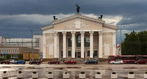 GOMEL, BELARUS - May 17, 2018: The Drama Theater in Lenin Square. GOMEL, BELARUS - May 17, 2018: The Drama Theater in Lenin Square Stock Photos