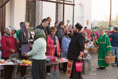 Gomel BELARUS May 1, 2016: Easter Sunday at the Cathedral of St. Nicholas. Orthodox religious holiday. Gomel BELARUS May 1, 2016: Easter Sunday at the Cathedral Stock Images