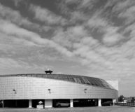 GOMEL, BELARUS - MAY 4, 2019: SECRET shopping center with parking on the roof stock photo