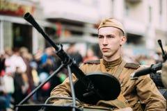 Gomel, Belarus. Parade Of Russian Soviet Military Warfare Of WW2 Royalty Free Stock Photos