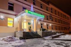 GOMEL BIAŁORUŚ, GRUDZIEŃ, - 13, 2016: Budynku inspektorat ministerstwo podatki i obowiązki republika Białoruś w W ten sposób zdjęcie stock