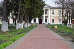 GOMEL, BIAŁORUŚ - 8 2017 Kwiecień: Rezydencja ziemska dom Rudievsky w wiosce Peredelka Data budowa jest początkiem Obrazy Royalty Free
