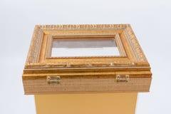 GOMEL, BIAŁORUŚ - 28 2017 Lipiec: Przejrzysty lekki łzawica dla darowizn od plexiglass i klingerytu baguette Fotografia Stock