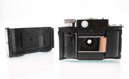 Gomel Białoruś, LUTY, - 22, 2018: Ekranowa kamera 35 mm 1950s fabrykujący SMENA Zdjęcia Royalty Free