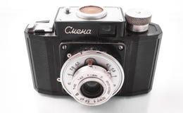 Gomel Białoruś, LUTY, - 22, 2018: Ekranowa kamera 35 mm 1950s fabrykujący SMENA Obraz Stock