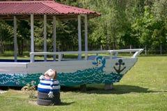 GOMEL BIAŁORUŚ, Maj, - 20, 2017: Małe architektoniczne formy w lato parku Obraz Royalty Free