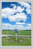 Gomel, Białoruś, SIERPIEŃ 22, 2006: Drogowa wymiana Kosmonauta aleja obrazy royalty free