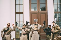 Gomel, Bielorrússia Celebração para o século de outubro Revolutio Imagem de Stock