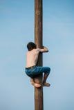 GOMEL, BIELORRÚSSIA - 21 de fevereiro de 2014 homem novo Fotografia de Stock