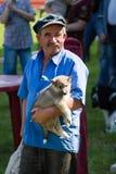 Gomel, Bielorrusia - 27 de mayo: Exposición de los perros de caza competencias en conformación el 27 de mayo de 2013 en Gomel, Bi imagen de archivo