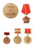 Gomel, Bularus - 10 décembre 2016 : Récompenses et médaille de citoyen honorifique du Belarus Photo stock