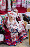 Gomel City Wizards event. Belarusian women in costumes Stock Photography