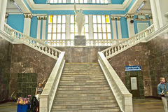 Gomel. Interior of train station Royalty Free Stock Image