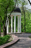 Gomel Palace and Park Ensemble, gazebo. In the back of the park in May Day Royalty Free Stock Images