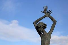 Gomel region, Zhlobin okręg, rewolucjonistki PLAŻOWA wioska Białoruś, Marzec, - 16, 2016: Pamiątkowy kompleks w rewolucjonistki p Obrazy Royalty Free