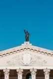 Gomel regional dramateater på den huvudsakliga fyrkanten av Lenin Arkivbilder