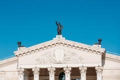 Gomel regional dramateater på den huvudsakliga fyrkanten av Lenin Royaltyfri Fotografi