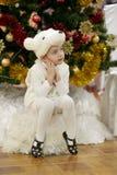 Gomel Vitryssland - DECEMBER 20, 2017: Ferie för ` s för nytt år för barn i dagis Barn 4 - 5 år Arkivbilder