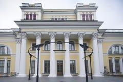 Gomel Vitryssland i höstnedgång Arkivbild
