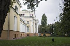 Gomel Vitryssland i höstnedgång Royaltyfri Bild